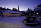 00029: Gstaad Promenade mit St. Niklaus-Kapelle (Dia 6x9 cm)